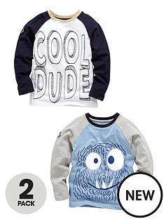 ladybird-boys-pack-2-monster-print-tops
