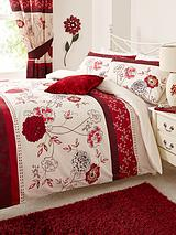 Fern Bedding Range - Red