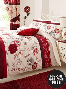 fern-bedding-range-red