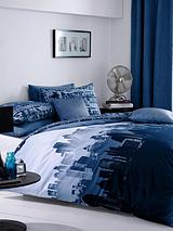 Cityscape Duvet Cover and Pillowcase Set