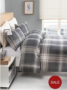 york-check-double-duvet-and-pillowcase-set