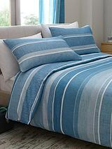 Century Spot and Stripe Duvet Cover and Pillowcase Set (Twin Pack)