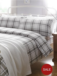 brushed-cotton-check-bedding-range