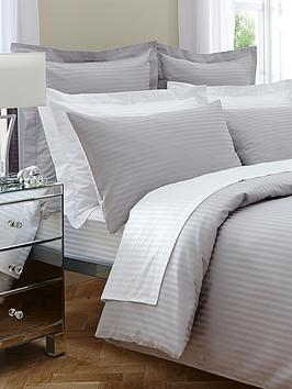Hotel Collection Satin Stripe 300 Thread Count Duvet Cover