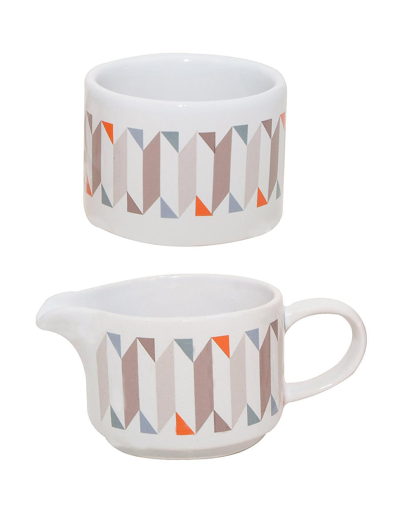 Geometric Sugar and Cream Set at Littlewoods