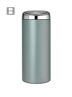 brabantia-30-litre-touch-bin-metallic-mint