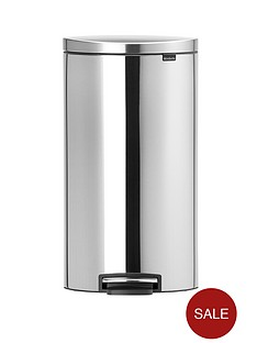 brabantia-fingerprint-proof-30-litre-flat-back-pedal-bin-matt-steel