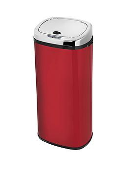 morphy-richards-50-litre-square-sensor-bin-red