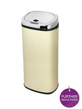 morphy-richards-50-litre-square-sensor-bin-cream