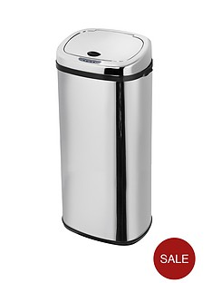 morphy-richards-50-litre-square-sensor-bin-stainless-steel