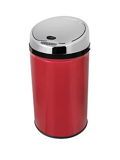morphy-richards-30-litre-round-sensor-bin-red