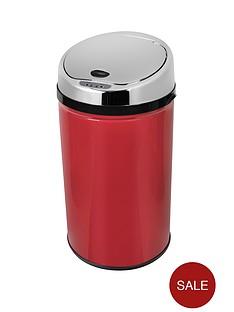 morphy-richards-30-litre-round-sensor-bin-red