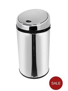morphy-richards-30-litre-round-sensor-bin-stainless-steel