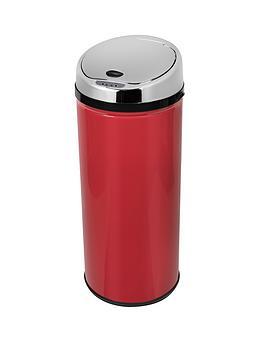 morphy-richards-42-litre-round-sensor-bin-red