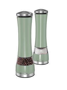 morphy-richards-electronic-salt-and-pepper-mill-set-sage