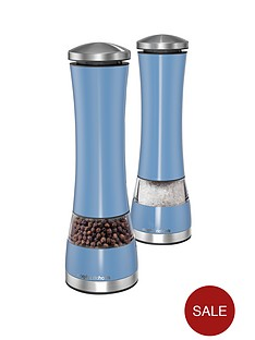 morphy-richards-electronic-salt-and-pepper-mill-set-cornflower-blue