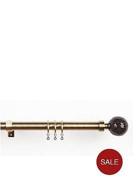 28mm-glamour-crackle-glass-extendable-chrome-curtain-pole