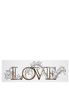 silver-love-metal-wall-art