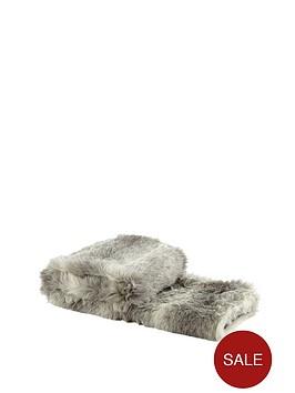 husky-faux-fur-throw-grey