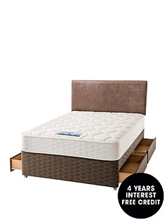 sealy-cressida-backcare-1200-pocket-spring-memory-foam-divan-with-optional-storage