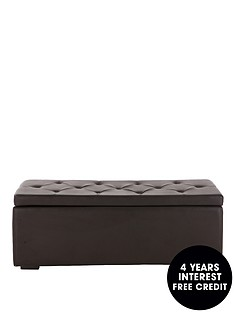 mandalay-faux-leather-ottoman