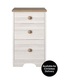 windsor-3-drawer-graduated-bedside-cabinet