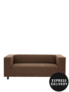 clarke-faux-suede-3-seater-sofa
