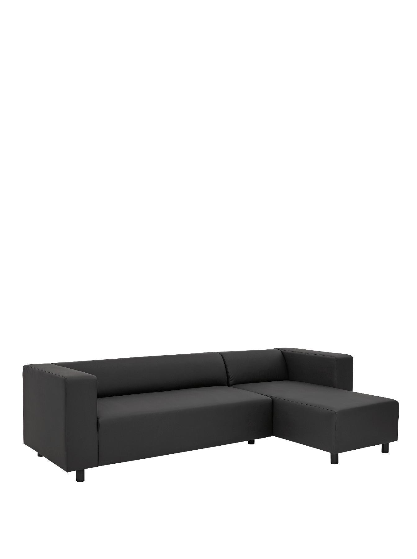 Clarke Faux Leather Right Hand Corner Group Sofa RedBlack