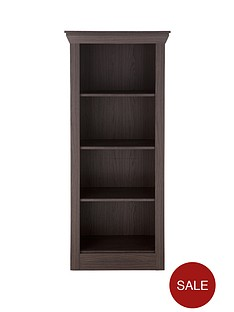 consort-new-brooklyn-ready-assembled-bookcase-rustic-oakdark-oak