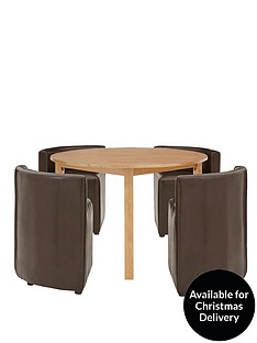 hideaway-106-cm-round-dining-table-4-chairs