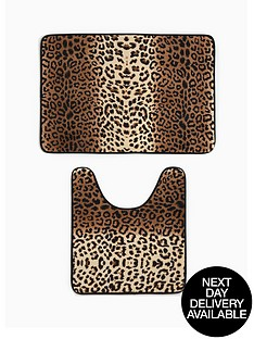 leopard-print-memory-foam-bathmat-and-pedestal-set