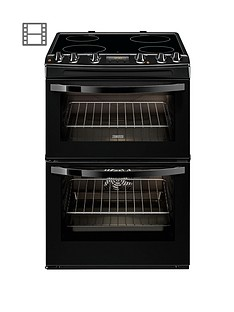 zanussi-zcv68300ba-60-cm-ceramic-double-oven-electric-cooker-black
