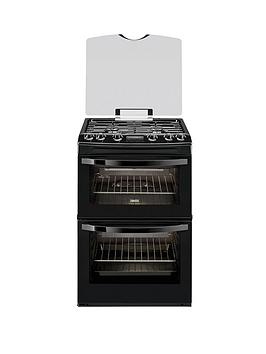 zanussi-zcg63200ba-60cm-double-oven-gas-cooker-black