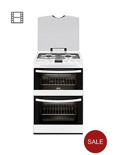 zanussi-zcg63200wa-60-cm-double-oven-gas-cooker-white