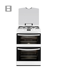 zanussi-zcg63200wa-60cm-double-oven-gas-cooker-white