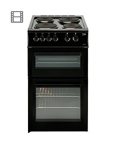 beko-bd533ak-50cm-single-oven-electric-cooker-with-connection-black