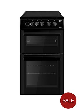 beko-bdc5422ak-50cm-freestanding-single-oven-electric-ceramic-cooker-black