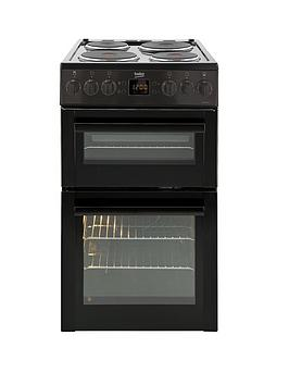 beko-bdv555ak-50cm-freestanding-double-oven-solid-plate-electric-cooker-black