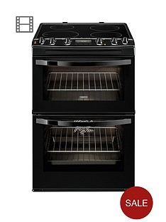 zanussi-zci68300ba-60-cm-electric-induction-double-oven-black
