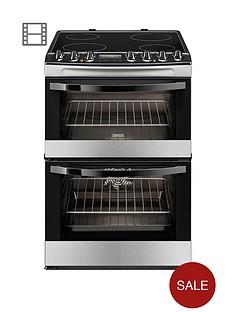 zanussi-zcv68310xa-60cm-ceramic-electric-double-oven-stainless-steel