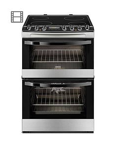 zanussi-zcv68310xa-60cm-ceramic-electric-double-oven-stainless-steel
