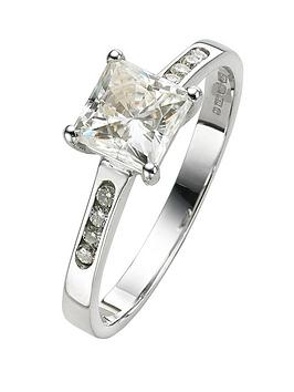 moissanite-18-carat-white-gold-100pt-equivalent-square-ring