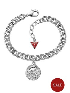 guess-rhodium-plated-crystal-ball-charm-bracelet