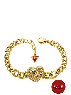 guess-gold-plated-pave-heart-charm-bracelet
