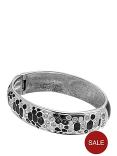 guess-rhodium-plated-serpent-design-bangle