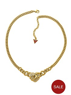 guess-gold-plated-pave-heart-pendant-necklace