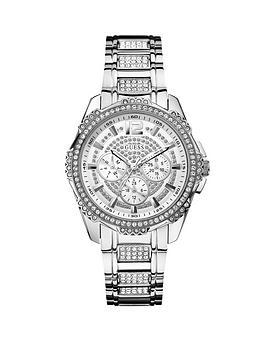 guess-intrepid-2-multi-function-crystal-silver-bracelet-ladies-watch