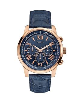guess-horizon-chronograph-rose-gold-and-blue-croco-leather-strap-mens-watch