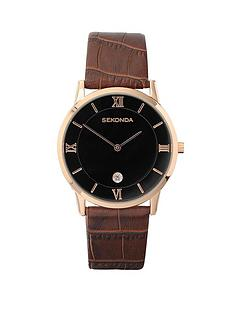 sekonda-mens-rose-gold-plated-brown-strap-watch