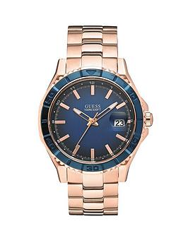 guess-plugged-in-blue-dial-brushed-rose-gold-bracelet-ladies-watch